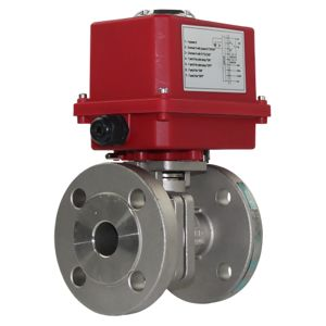 Electrically Actuated Ball Valves AV-L6NE40 Full Bore PN40 SS PTFE